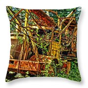 Old Logger-hdr Throw Pillow