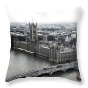 Old London .. New London Throw Pillow