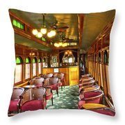 Old Lounge Car From Early Railroading Days Throw Pillow