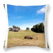Old Machine Throw Pillow by Les Cunliffe