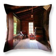 Old Machinery Throw Pillow