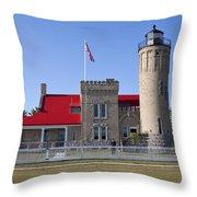 Old Mackinac Mi Lighthouse 19 Throw Pillow