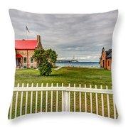 Old Mackinac Point Lighthouse Throw Pillow