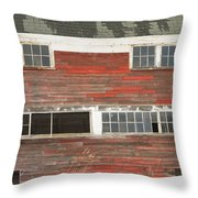 Old Maine Barn In Winter Throw Pillow