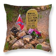 Old Man Clanton At Boot Hill Throw Pillow