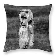 Old Man Gnome Throw Pillow