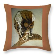 Old Man In Distress Throw Pillow