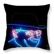Old Man In Neon 2 Throw Pillow
