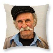 Old Man Of Mykonos Throw Pillow