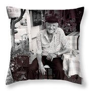 Old Man Of Old Town Throw Pillow