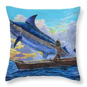 Old Man's Battle Off00133 Throw Pillow by Carey Chen