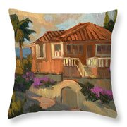Old Mansion Costa Del Sol Throw Pillow