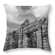 Old Marble Mill Throw Pillow