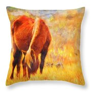 Old Mare Throw Pillow