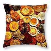 Old Metal Throw Pillow