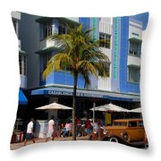 Old Miami Throw Pillow