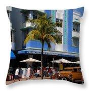 Old Miami Throw Pillow