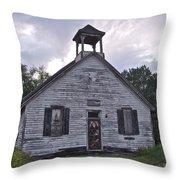 Old Michigan School Throw Pillow