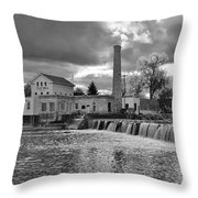 Old Mill And Banquet Hall Throw Pillow