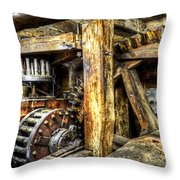 Old Mill Cogs Throw Pillow