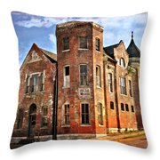 Old Mill Museum Throw Pillow