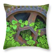 Old Mill Of Guiford Grinding Gear Throw Pillow