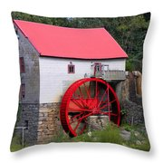 Old Mill Of Guilford Throw Pillow by Sandi OReilly