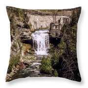 Old Mill On The Credit Throw Pillow