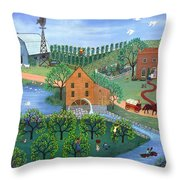 Old Mill Stream Throw Pillow