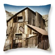 Old Mine Shack Throw Pillow