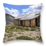 Old Mining House Throw Pillow by Aaron Spong
