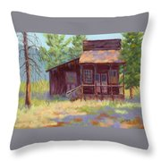 Old Mining Store Throw Pillow