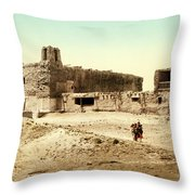 Old Mission Church At Acoma Throw Pillow