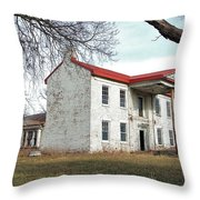 Old Missouri Mansion Throw Pillow