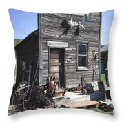 Old Molson Ghost Town Assay Office Throw Pillow