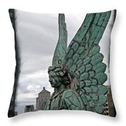 Old Montreal Angel Filmstrip Throw Pillow