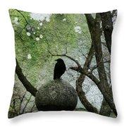 Old Moss Throw Pillow
