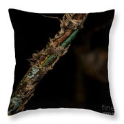Old Motorcycle Wiring Throw Pillow