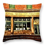 Old National Bank Of Thurmond Throw Pillow