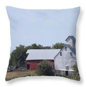 Old Nebraska Farm Throw Pillow
