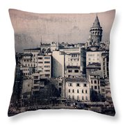 Old New District Throw Pillow