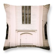Old New England Gothic Church Throw Pillow