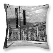 Old New Orleans Power Plant Throw Pillow