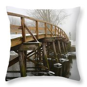Old North Bridge Throw Pillow by Allan Morrison