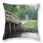 Old North Bridge Throw Pillow