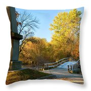 Old North Bridge Throw Pillow by Brian Jannsen