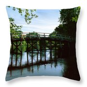 Old North Bridge Throw Pillow by Jo Ann Snover