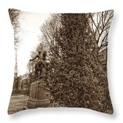 Old North Church And Paul Revere Throw Pillow by Joann Vitali
