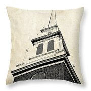 Old North Church In Boston Throw Pillow