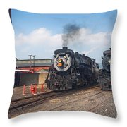 Old Number 3254 Under Steam Throw Pillow